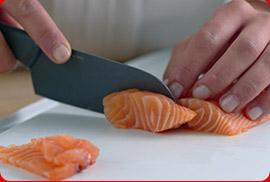 Cuchillo con mango suave y ergonómico