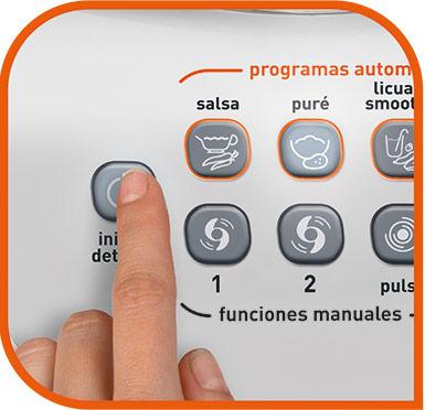 El control manual te permite mantener el botón presionado el tiempo que desees