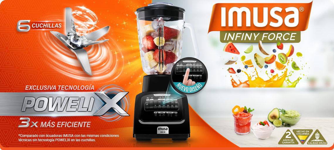 Licuadora Imusa con la exclusiva tecnología Powelix