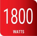 Plancha con 1800 watts de potencia