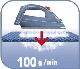 Impulso de vapor de 100g/m para eliminar las arrugas más difíciles