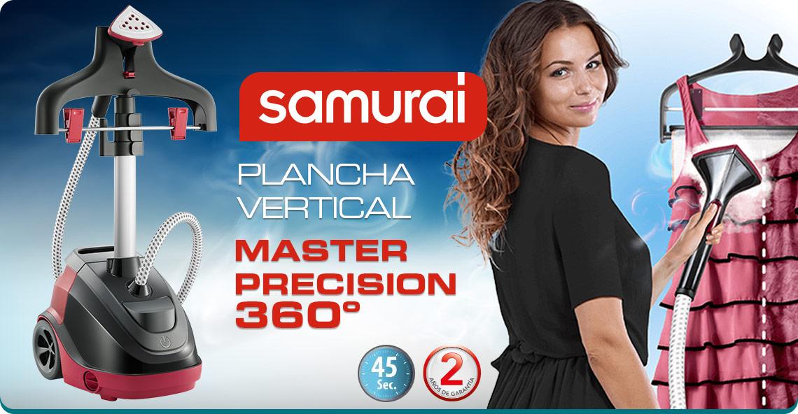 Plancha Samurai vertical con gancho giratario de 360°