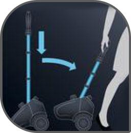 Cuenta con una fácil pedal para prender y apagar e indicador de luz