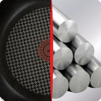 Superficie reforzada con Titanium haciendo un antiadherente más resistente y durable
