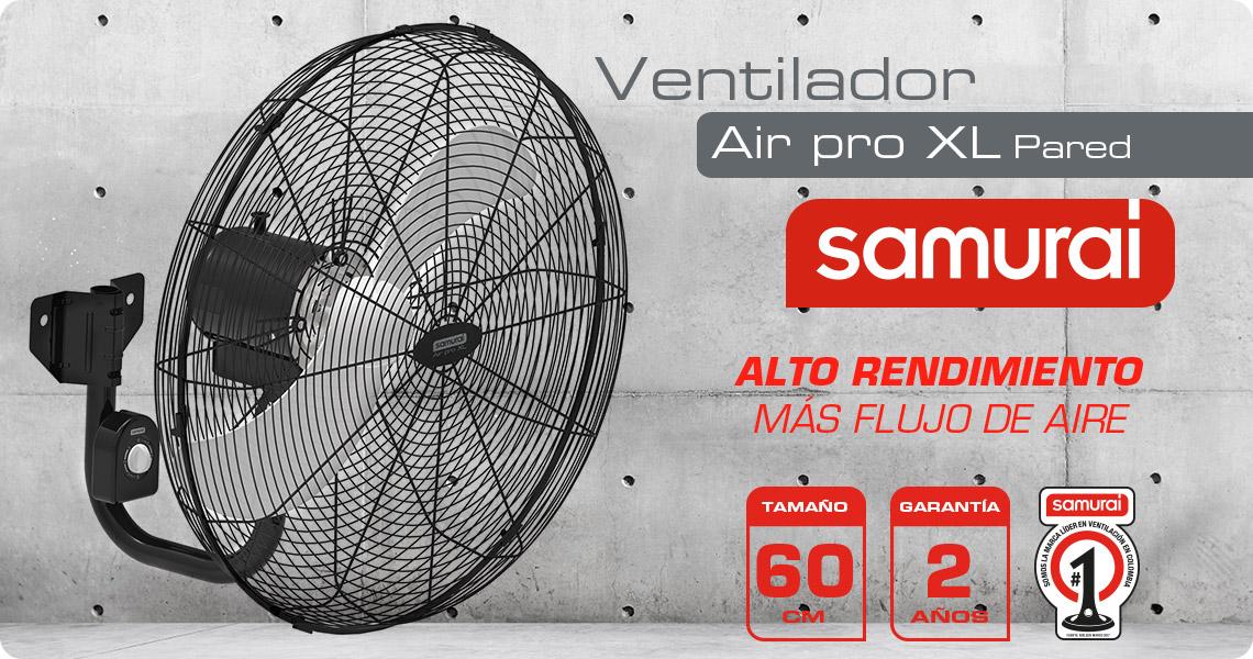 ventilador samurai de alto rendimiento air pro XL pared