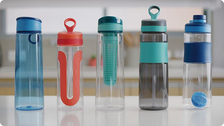 Botella para el agua apta para microondas
