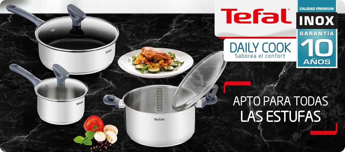 línea daily cook de tefal con 10 años de garantía