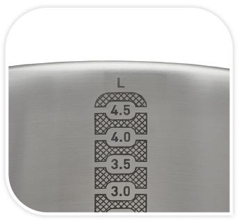 ollas tefal con medidor para calcular las porciones