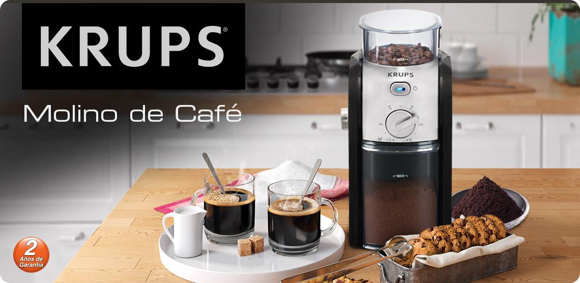 Molino de café Krups con 2 años de garantía