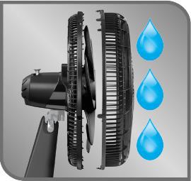 malla frontal removible para lavar fácil