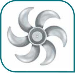 Ventilador de 6 aspas y gran flujo de aire