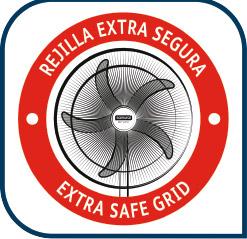 ventilador con rejilla resistente y extra segura