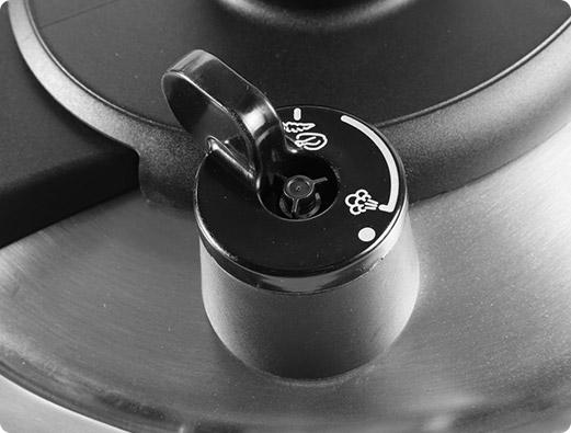su válvula de presión es ajustable, controlando el vapor