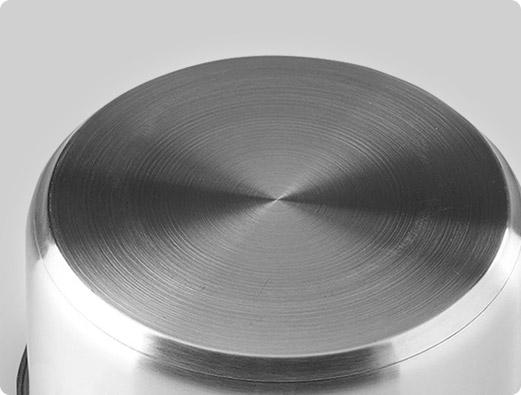 olla a presión en acero inoxidable apta para cocinas de inducción