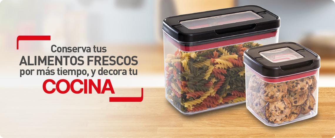 conservar los alimentos frescos con recipientes tefal