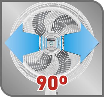 Oscilación horizontal de 90 grados, para una óptima distribución del aire