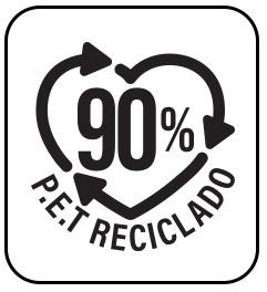 Ideal para contacto con alimentos y estan hechos en un 90% con PET reciclado.