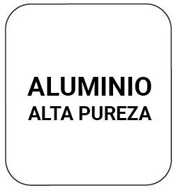 Fabricado en aluminio de alta pureza resistente